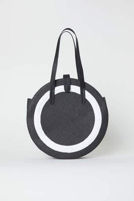 H&M Round Straw Bag - Black - Women