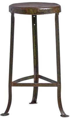Rejuvenation Rustic Folded Steel Tripod Stool w/ Weathered Finish