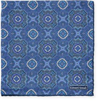 Edward Armah Abstract-Print Silk Pocket Square