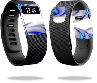 Fitbit Mightyskins MightySkins Skin for Charge 3 - Blue Flames | Protective, Durable, and Unique Vinyl Decal wrap cover | Easy To Apply, Remove, and Change Styles | Made in the USA