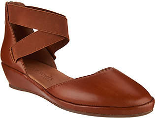 Kenneth Cole Gentle Souls by Gentle Souls Leather Two Piece Wedges - Noa