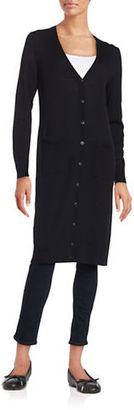 Lord & Taylor Merino Wool Long Cardigan $134 thestylecure.com