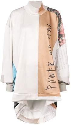 Marques Almeida Marques'almeida asymmetric turtle neck sweatshirt