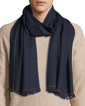 Loro Piana Men's Winter Four-In-Hand Cashmere Scarf