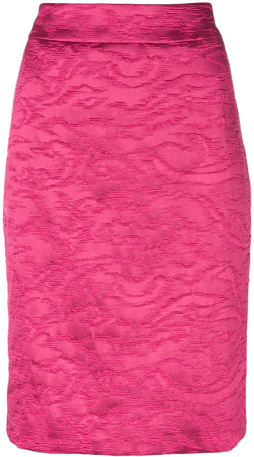 Armani Collezioni jacquard pencil skirt