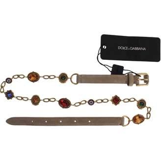 Dolce & Gabbana Beige Suede Belts