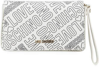 Love Moschino Logo-Print Wristlet Clutch Bag