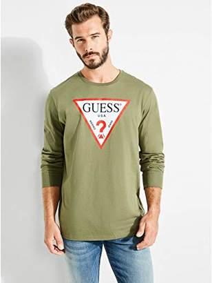 GUESS Men's Long Sleeve Classic Logo T-Shirt