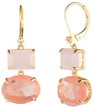 Carolee Gold Rectangle Drop Earrings