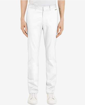 Calvin Klein Men's Flat-Front Sateen Pants