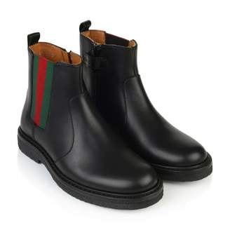 Gucci GUCCIBlack Leather Ankle Boots