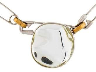 Celine Pebbles Resin & Safety Pin Choker