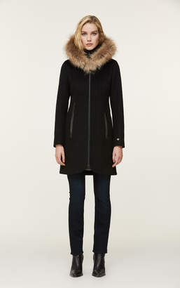 Soia & Kyo CHARLENA wool coat with removable natural fur