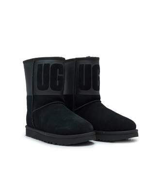 UGG Classic Short Rubber Logo Boots