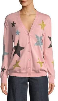 Moschino Star-Print Wool Cardigan