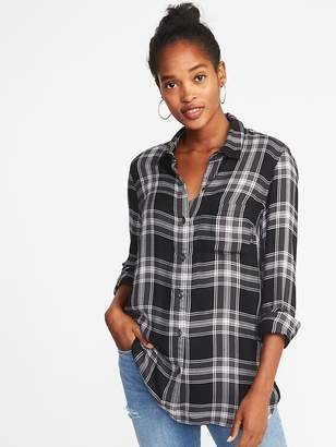 Old Navy Relaxed Classic Flannel Shirt for Women