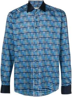 Etro check print shirt