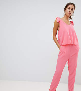 Mama Licious Mama.licious Mamalicious Nursing Jumpsuit With Tie Detail