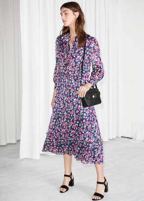 And other stories Floral Print Midi Dress