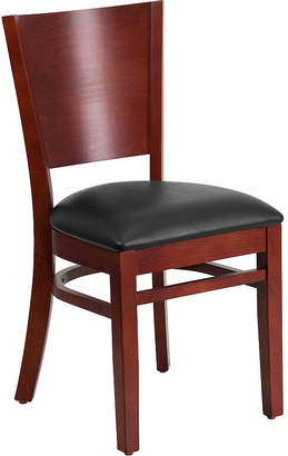 Asstd National Brand Lacey Series Solid Back Wooden Restaurant Chair