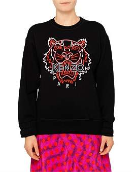 Kenzo Neon Tiger Molleton Sweat Shirt Comfort