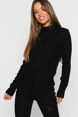 boohoo Petite Ribbed Roll Neck Jumper