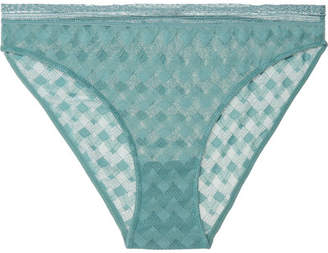 e095cb727ee6 ELSE - Maze Stretch-lace Briefs - Turquoise