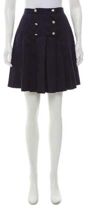 Karl Lagerfeld High-Rise Pleated Shorts
