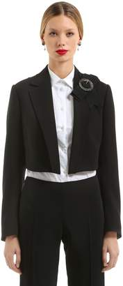 Dolce & Gabbana Cropped Wool Crepe Jacket