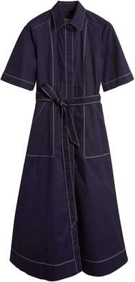Burberry Topstitch detail stretch cotton dress