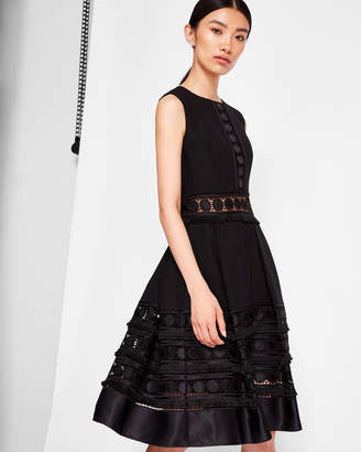 Ted Baker OLYM Lace detail textured dress