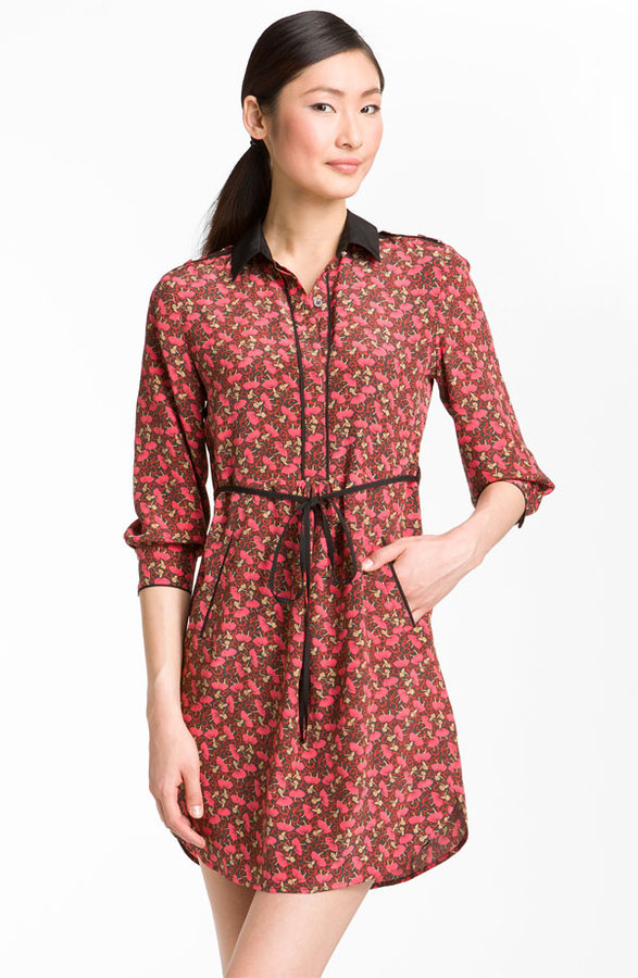 Ted Baker London 'Dancers' Ditsy Print Silk Shirtdress