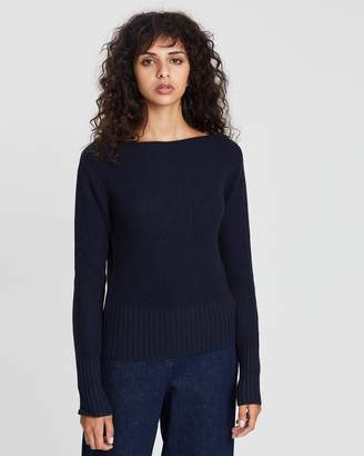 Theory Jersey Roll Boatneck Jumper