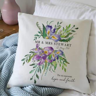 Vintage Designs Reborn 25th Wedding Anniversary Flower Cushion