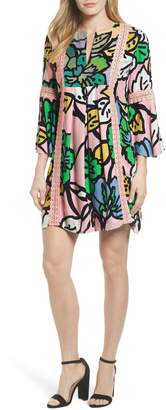 Kas Ancona Mod Print Shift Dress