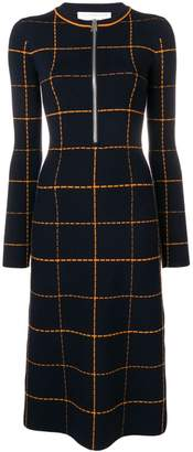 Victoria Beckham zip check dress