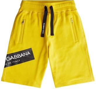 Dolce & Gabbana Logo Patch Shorts