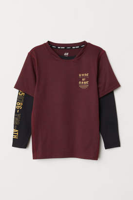 H&M Long-sleeved Sports Shirt - Red