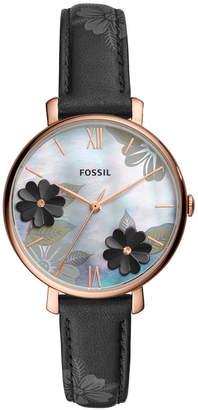 Fossil Women Jacqueline Black Leather Strap Watch 36mm
