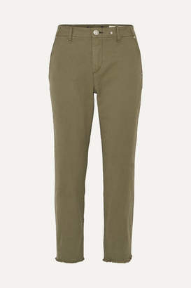 Rag & Bone Buckley Cropped Cotton-blend Twill Straight-leg Pants - Green