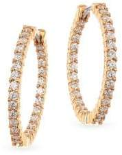 Roberto Coin 18K Rose Gold& Diamond Hoop Earrings