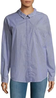 Sanctuary Women's Tie Back Cotton Boyfriend Button-Down Shirt