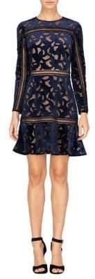 Adelyn Rae Skyler Velvet Sheath Dress