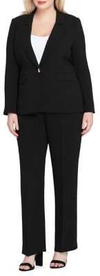 Tahari Arthur S. Levine Peak Lapel Jacket and Straight-Leg Paint Suit