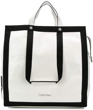 Calvin Klein large logo tote bag