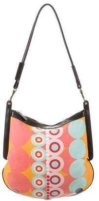 Ted Baker Printed Leather-Trimmed Bag