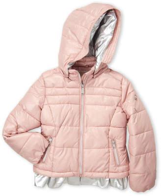 bd0032ae3 MICHAEL Michael Kors Girls 4-6x) Metallic Ruffle Puffer Jacket