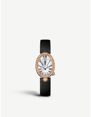 Breguet G8928BR51844DD0D 18ct rose-gold, mother of pearl, sapphire crystal and diamond watch