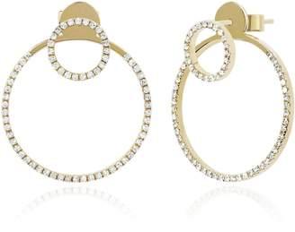 Ef Collection Diamond Halo Ear Jacket