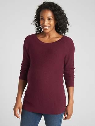 Gap Maternity Long Sleeve Textured Sweater Tunic